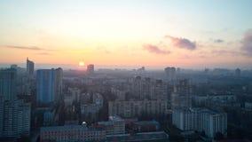 Вид с воздуха города Киева в утре, Стоковые Изображения