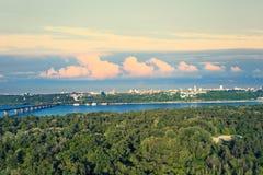 Вид с воздуха города Киева стоковое изображение rf