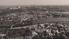 Вид с воздуха города от трутня Стоковая Фотография