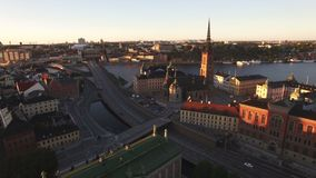 Вид с воздуха города Стокгольма акции видеоматериалы