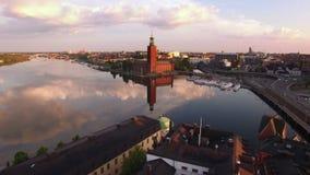 Вид с воздуха города Стокгольма сток-видео