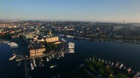 Вид с воздуха города Стокгольма видеоматериал