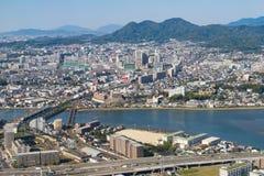 Вид с воздуха города Фукуоки Стоковая Фотография