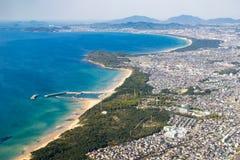 Вид с воздуха города Фукуоки Стоковые Фото