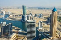 Вид с воздуха городского Дубая Стоковые Фотографии RF