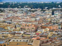 Вид с воздуха государства Ватикан стоковое фото rf
