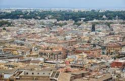 Вид с воздуха государства Ватикан стоковые фотографии rf