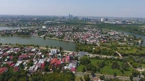 Вид с воздуха деревни от трутня Стоковое фото RF