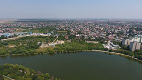 Вид с воздуха деревни от трутня Стоковое Фото