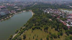 Вид с воздуха деревни от трутня Стоковая Фотография