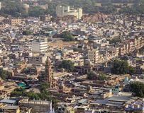 Вид с воздуха Джодхпура, Индии стоковое фото