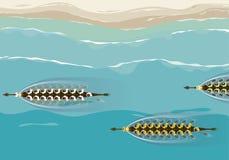 Вид с воздуха дизайна иллюстрации конкуренции шлюпки дракона бесплатная иллюстрация