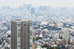 Вид с воздуха для метрополии токио Стоковое Изображение RF