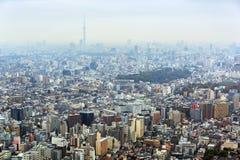 Вид с воздуха для метрополии токио Стоковая Фотография