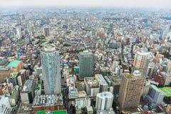 Вид с воздуха для метрополии токио Стоковое Фото