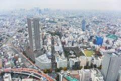 Вид с воздуха для метрополии токио Стоковые Изображения