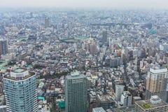 Вид с воздуха для метрополии токио Стоковое фото RF