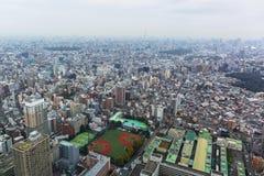 Вид с воздуха для метрополии токио Стоковые Фотографии RF