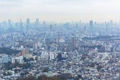 Вид с воздуха для метрополии токио Стоковое Изображение