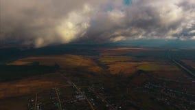 Вид с воздуха долины осени видеоматериал