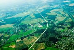 Вид с воздуха домов и… стоковые фотографии rf