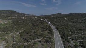 Вид с воздуха дороги 8 сток-видео