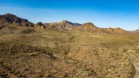 Вид с воздуха заводи пещеры регионального парка ранчо креста шпоры близко, Аризоны Стоковые Фотографии RF