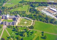 Вид с воздуха замка Виндзора и сцена для королевской свадьбы принца Гарри и Meghan Markle Стоковая Фотография