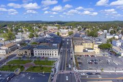 Вид с воздуха здание муниципалитета Framingham, Массачусетс, США стоковые изображения