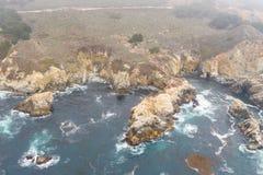 Вид с воздуха изумительной береговой линии в северной калифорния стоковое изображение rf