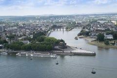 Вид с воздуха иконического немецкого угла стоковое фото