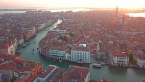Вид с воздуха Италия Венеция сток-видео