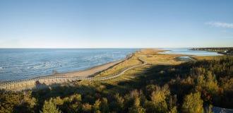 Вид с воздуха канадского ландшафта стоковое фото