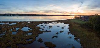 Вид с воздуха канадского ландшафта стоковое изображение rf