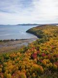 Вид с воздуха канадского ландшафта стоковая фотография