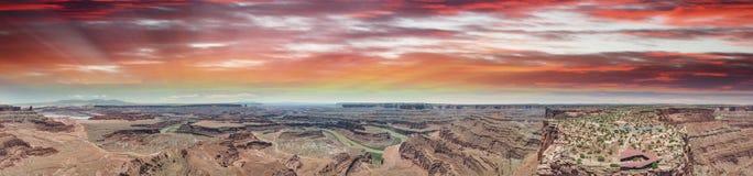 Вид с воздуха каньона в Юте, Соединенных Штатах Стоковое фото RF