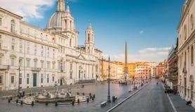 Вид с воздуха квадрата Navona в Риме, Италии Архитектура и ориентир ориентир Рима стоковые фотографии rf