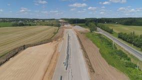 Вид с воздуха конструкции шоссе Стоковая Фотография