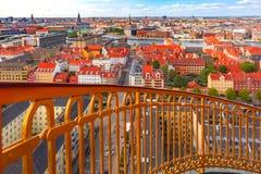Вид с воздуха Копенгагена, Дании стоковое изображение rf