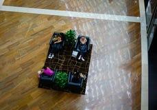 Вид с воздуха кофейни на торговом центре Стоковые Изображения RF