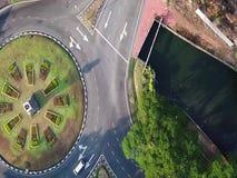 Вид с воздуха круглый о Alor Setar Малайзии акции видеоматериалы