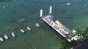 Вид с воздуха купать солнца Италия людей акции видеоматериалы