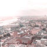 Вид с воздуха Кёльна от собора Dom Стоковая Фотография RF
