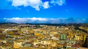 Вид с воздуха к столице Асмэры Эритреи Стоковое Изображение RF