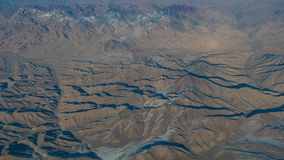 Вид с воздуха ландшафта в северной области Синьцзян Китая в w стоковая фотография rf