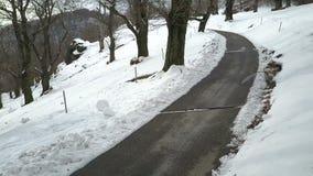 Вид с воздуха ландшафта зимы акции видеоматериалы