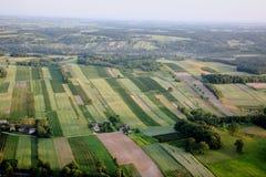 Вид с воздуха ландшафта села, воздушного фото стоковая фотография rf