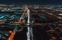 Вид с воздуха ЛА, CA около LAX стоковые фотографии rf