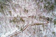 Вид с воздуха леса в горах Вогезы alsace Франция стоковое изображение