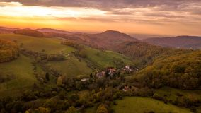 Вид с воздуха леса осени Стоковое Изображение RF
